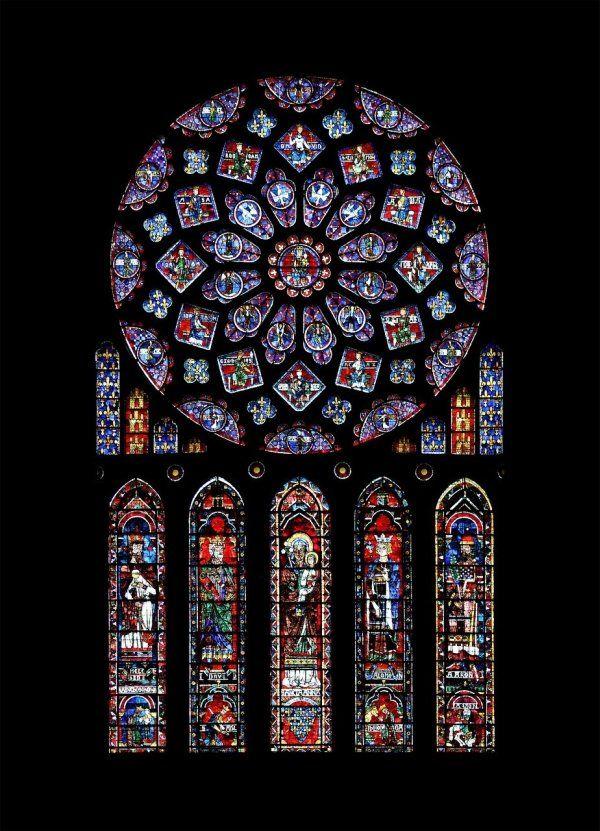 Rosetón de Notre Dame, Chartres
