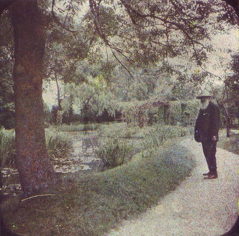 Claude Monet en su jardín, Giverny 1917
