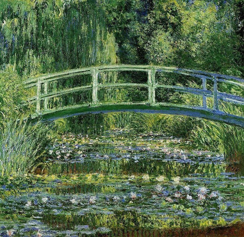El Estanque de las Ninfas y el Puente Japonés, Claude Monet