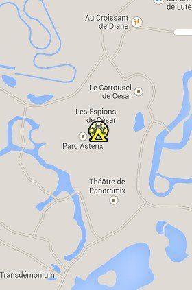 Situación del Parque Astérix en el Mapa de París