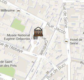 Situación del Museo Eugène Delacroix en el Mapa de París