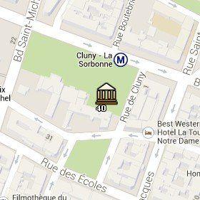 Situación del Museo de la Edad Media en el Mapa de París