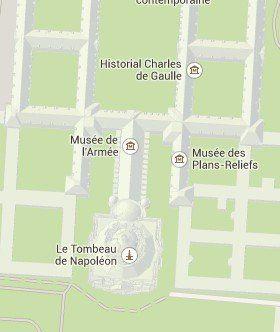 Situación de Invalides en el Mapa de París