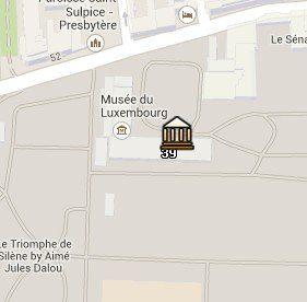 Situación del Museo de Luxemburgo en el Mapa de París