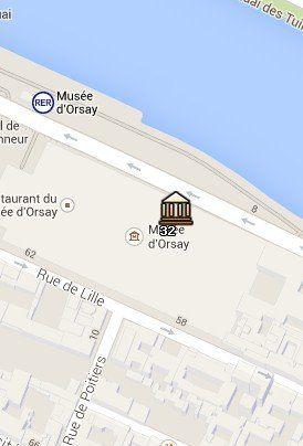 Situación del Museo de Orsay en el Mapa de París