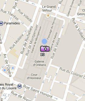 Situación del Palais Royal en el Mapa de París