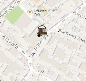 Situación del Museo Picasso en el Mapa de París