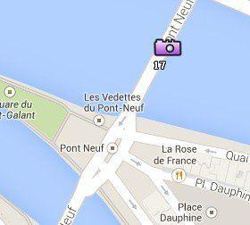 Situación del Pont Neuf en el Mapa de París