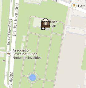 Situación del Museo Rodin en el Mapa de París