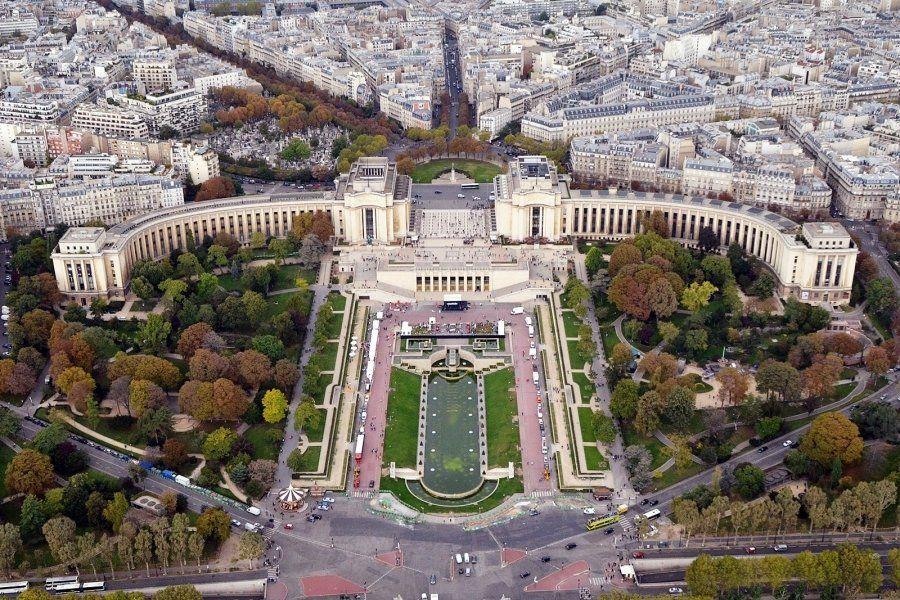 Jardines de Trocadéro y Palacio Chaillot
