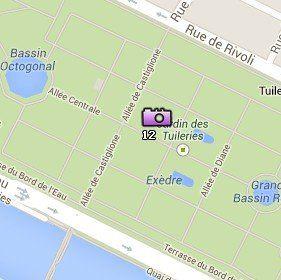 Situación del Jardín de las Tullerías en el Mapa de París