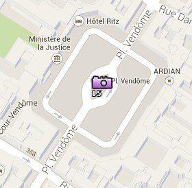 Situación de la Plaza Vendôme en el Mapa de París